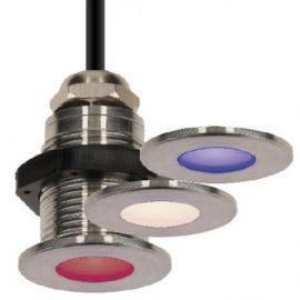 Nauticled cl03 06 watt rød-grøn-blå courtesy lys ip67 ø30-22x31mm