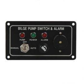 Pumpepanel m/akustisk alarm 12v