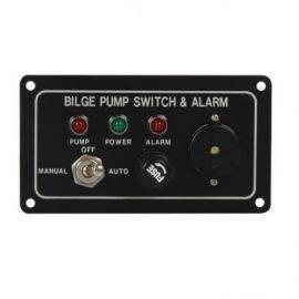 Pumpepanel med akustisk alarm 12V