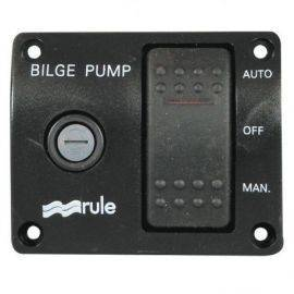 Rule pumpepanel 12v med 3-vejs kontakt og sikringsholder