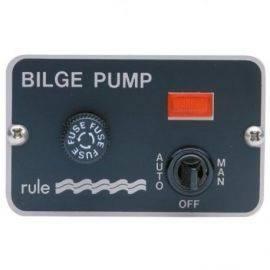 Rule pumpepanel 24v med kontakt og indikator