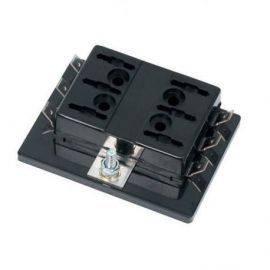 Sikringsboks til 6 bladsikringer maks 25 amp