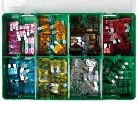Bladsikring sortiment 130stk i plastbokse 4-30Amp