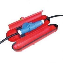 Cee 220v stænktæt samledåse med lås