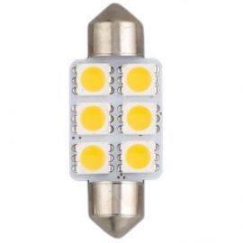 Led pinolpære highpower 12v 36mm  10w varm