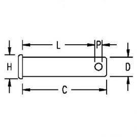 Ronstan Splitbolt 12.7 (1/2)x25 (1)