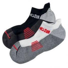 758 gill trainer socks par 1 sort & 1 hvid str s - 35-39