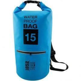 1852 vandtæt taske 15 liter blå