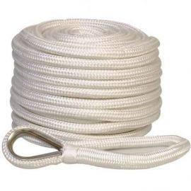 Ankertov flettet polyester m/bly 12mm 30 meter