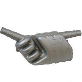 Lyddæmper/vandlås h220mm, b485mm, d150mm