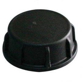 Plast dæksel sort 1 1-2 gevind