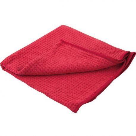1852 microfiber rød wafflet klud optimum 360g-m2 60 x 40cm