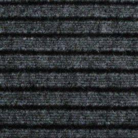Gulvtæppe bredde 200 cm grå stribet anbrudpris løbende m