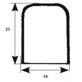 Endestykke b18 l60 h25mm