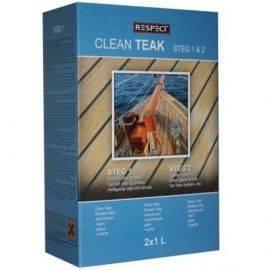 Respect teak clean sæt 2 x 1 liter