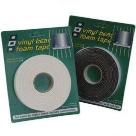 Psp vinyl foam tape svampegummi m-klæb sort 25x3mm 25m