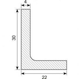 L-profil 30x22x4 mm cr 65 meter