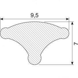 Låseliste hvid 9.5 mm.