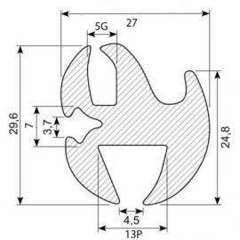 Rudegummi 14mm pl-5mm gl
