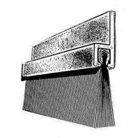 Alu foldedørs børste 1 mtr