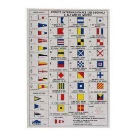 Klistermærke - flagkoder-morse