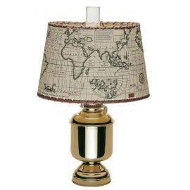 Bordlampe stor 8816 ele27fatnexclskærm og holder