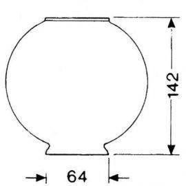 DHR Lampeglas 64mm x 142mm