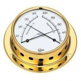 Barigo tempo-s termo/hygrometer ø70/88mm messing