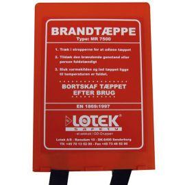 Brandtæppe 1,20x1,8m i box, Dansk tekst EN 1869 godkendt