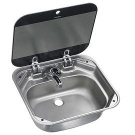 Dometic SNG 4237 firkantet vask med glaslåg 42 x 37 cm