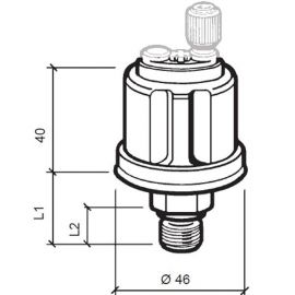 "Vdo sensor olie tryk 10 bar, 1/8""-27nptf, 6-24v"