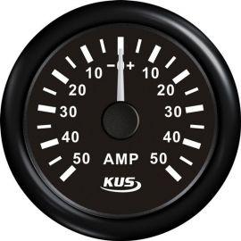 Kus amperemeter sort, med 50Amp shunt 12/24V
