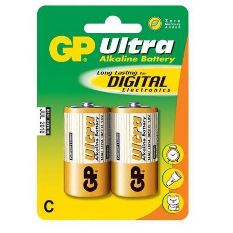 Batteri lr14 mellem 1.5v 2 stk