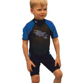Base våddragt kortmodel junior blå str. 115cm
