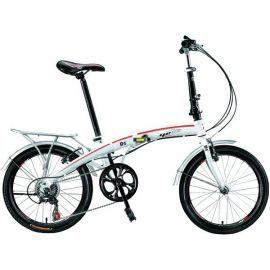 """Foldecykel Yess D1 20"""" 7 gear hvid"""