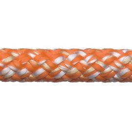Robline Super Dinghy Sheet 5,5 mm Hvid/Orange 100 meter