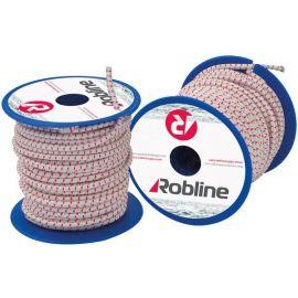 Robline Mini elastik snor 4 mm Sort/Rød/Hvid boks 10x10 mtr.