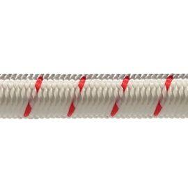 Robline elastik snor 7mm Hvid/Rød 200m
