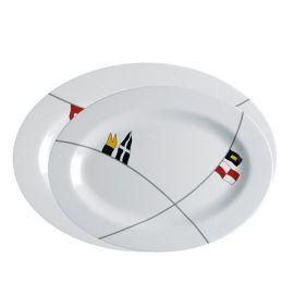 MB Regata oval serveringsfade 30x22/35x25 cm 585 gr. 2 stk.